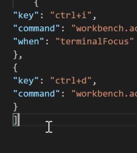 Visual Studio Code Shortcut zwischen Terminal und Editor wechseln