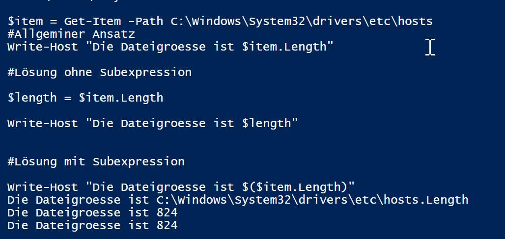 Script-Subexpression